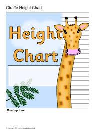 Sparklebox Height Chart Giraffe Childrens Height Chart Sb9420 Sparklebox