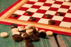 Game With Stones And Wooden Board Wooden Stones On Board For Game Of Checkers Stock Photo Image 91