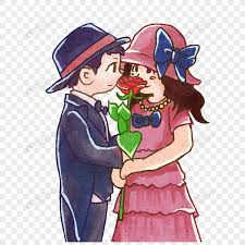 Cute Couple Png Qixi Festival Cartoon Cute Couple Png Image_picture Free