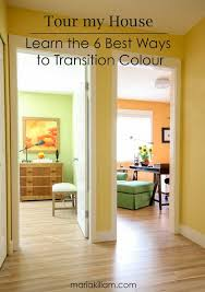 Painting adjoining rooms different colors Transition Transitioncolour Maria Killam Tour My House Learn The Best Ways To Transition Colour Maria