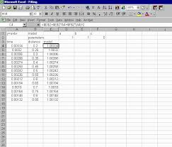 once the model is defined and computes the distance value for initial time value copy and paste the formula into the remaining cells of the column
