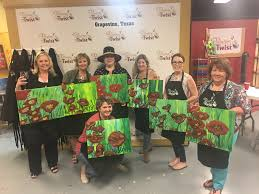 20 apr dallas chapter hosts painting wine networking event