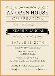 Invitation To Open House Invitation To Open House Wording Business Open House Invitation