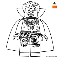 Coloring Page For Kids How To Draw Lego Doctor Strange Crafting