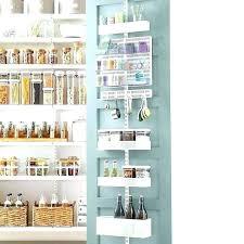 back of door pantry storage over the door storage rack with baskets over the door baskets
