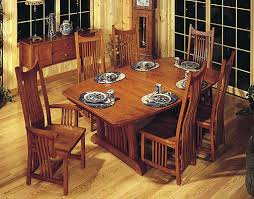terrific mission style dining room sets living set series furniture trestle leather in table decor 3