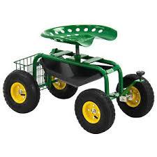 garden cart. Image Is Loading Garden-Cart-Rolling-Work-Seat-With-Tool-Tray- Garden Cart