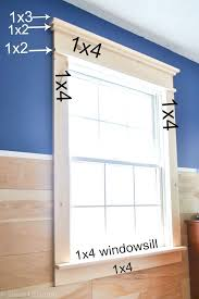 i was surprised that this diy farmhouse window trim actually seems easy to do there aren t really any angles to cut and it looks so pretty when it s done