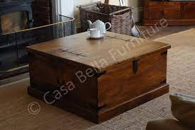 jali mango square trunk coffee table