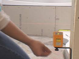 set laser level from top of tub deck