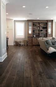Barrington Residence - This Smoked Black Oak wide plank hardwood flooring,  which is now being