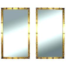 gold bamboo mirror. 8x10 Mirror Gold Bamboo Frame Wall Mirrors Framed Vintage Pair Photo