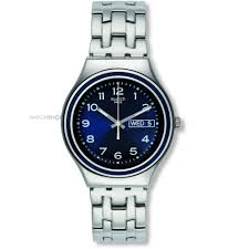 "men s swatch blue influence watch ygs765g watch shop comâ""¢ mens swatch blue influence watch ygs765g"