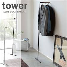 Coat Rack Hanging Craseal Rakuten Global Market Tower toer slim coat hanger white 19