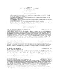 Sample Resume For Concierge Position Bongdaao Com