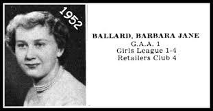 RIP ~ Barbara Ballard ('52)