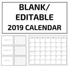 Blank Editable Calendar Blank Editable 2019 Calendar Template Google Slides