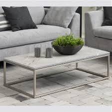 xinaris bran coffee table throughout brushed nickel