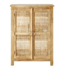 2 door cabinet with shelves carved solid mango wood 2 door cabinet 2 door shelf cabinet