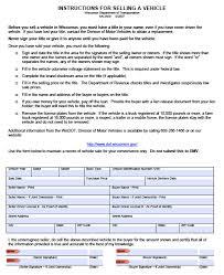 028 Wisconsin Motor Vehicle Bill Of Sale Form Mv2928