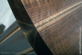 a round solid black walnut cafe table top for custom made restaurant tables from spiritcraft furniture dundee illinois