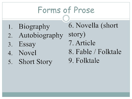 how do i distinguish among poetry prose and drama ppt video  novella short story biography autobiography