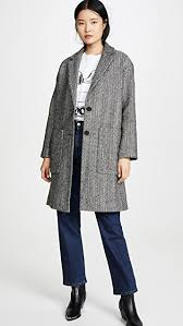 madewell men s size chart elmcourt coat in flecked herringbone