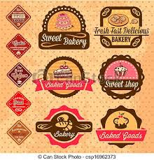 Baked Goods Design Elements Elegant Vector Bakery Labels And Badges