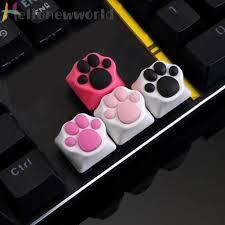 Bàn Phím Cơ Bằng Hợp Kim Nhôm Hình Dấu Chân Mèo 3d Đầy Độc Đáo - Bàn phím  chơi game