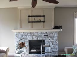 a white washed stone fireplace tutorial life on virginia street