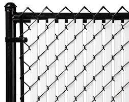 Amazoncom 6ft White Tube Slats for Chain Link Fence Garden