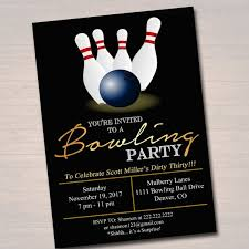 Bowling Party Invitations Editable Adult Bowling Party Invitation Birthday Invitation Etsy