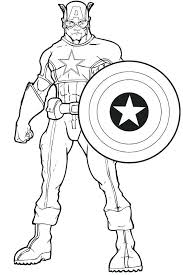 Captain America Printable Coloring Pages B3478 Captain Printable