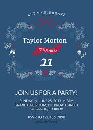 Design Party Invitations 21st Birthday Party Invitations Template Fotojet