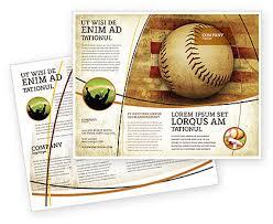 Baseball Brochure Template American Baseball Brochure Template Design And Layout