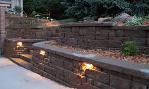 wall lights design outdoor retaining landscape wall low mounted voltage ideas shinings minimalist creatives staircase stones