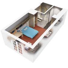 Apartments D Floor Plan  Bedroom Apartment Design Idea  Wayne - Small apartment floor plans 3d