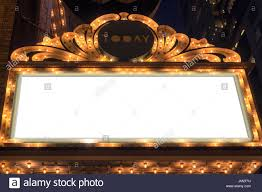 Marquee Sign With Lights Marquee Lights Blank Sign On Broadway Theater Stock Photo