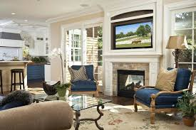 tv height over fireplace above stone fireplace living room traditional with fireplace mantel brown standard height