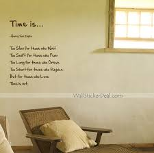 Quotes wall stickers Time Is Quotes Wall Stickers WallStickerDeal 92