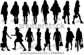Vectors Silhouettes Set 16 Vectors Silhouettes People Action Stock Vector Royalty Free