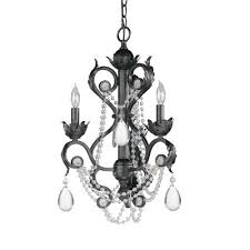 lead crystal wrought iron handpainted mini chandelier