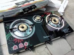 automatic 3 burner gas stove hands on