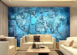 navy blue political world map wallpaper