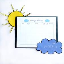 Weather Chart Printable Free Printable Weather Chart Life Over Cs