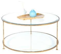 glass circle coffee table