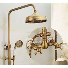 pictures show outdoor shower antique brass