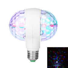 Rotating Led Disco Light Bulb Led 6w Rotating Bulb Light With Dual Head Magic Stage Disco Lamp Rotating Double Headed Led Stage Light Colorful Light Bulb