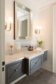 bathroom vanity mirror ideas modest classy: traditional powder room with floating vanity small baths with big impact bathroom vanity mirror ideasgrey