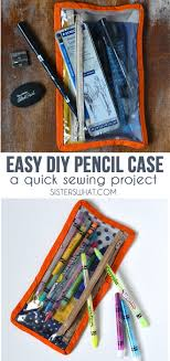 an easy diy pencil case a quick sewing pattern and sewing tutorial